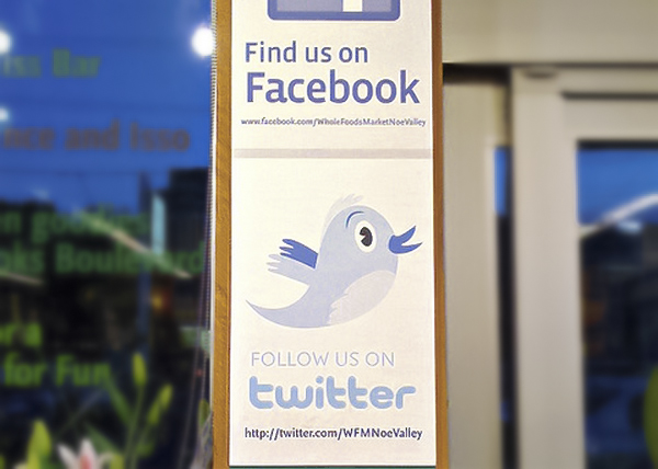 Social Media in Print - Facebook and Twitter Ads with Call to Action