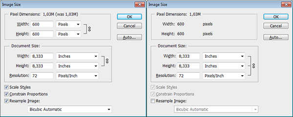 Difference Between Image Resizing and Resampling in Photoshop