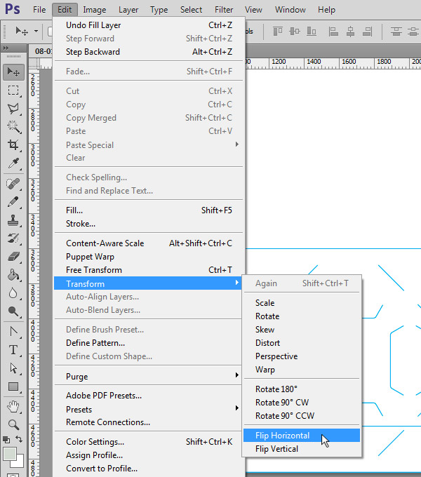 Flipping Second Side of Template Horizontally