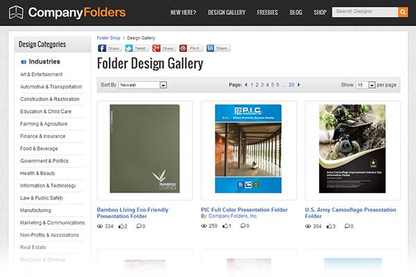 Folder Design Gallery - 2013