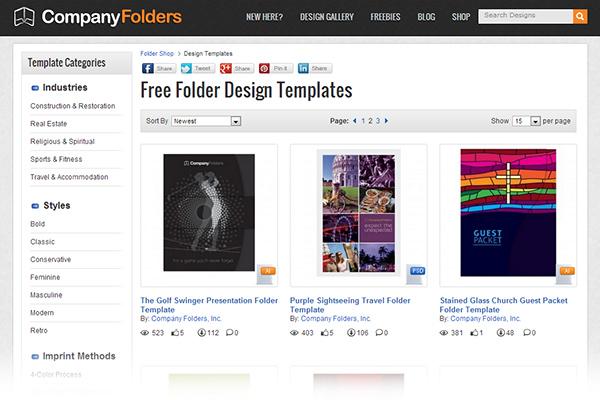 Folder Design Templates - 2013