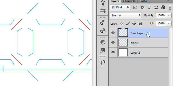 Tracing Over Pocket Slits in Photoshop