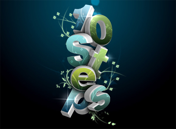 3D Flowery Text Effect
