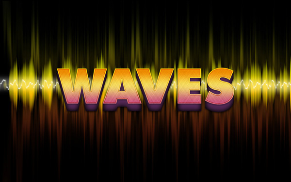 Waves Text Effect