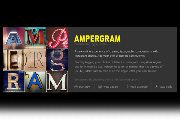 Ampergram - create typographic compositions with Instagram photos