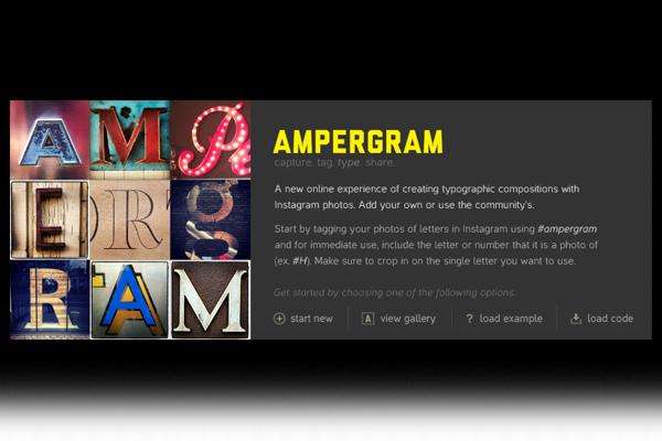Ampergram - create typographic compositions with Instagram photos