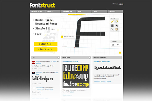 FontStruct - Build, share, and download fonts