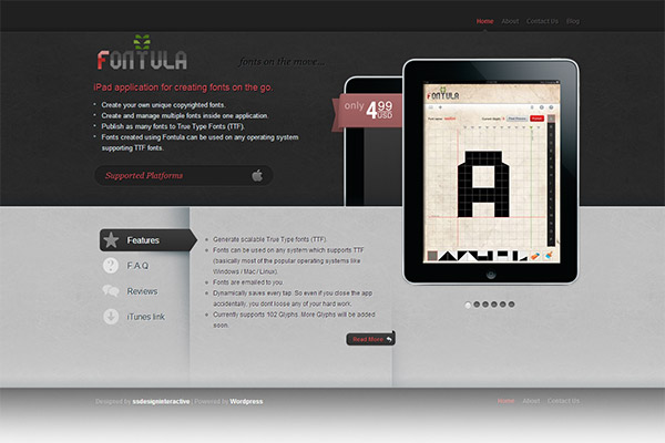 Fontula - An iPad app to create and publish your own true type fonts