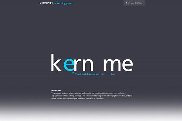 Kern Type - the kerning game