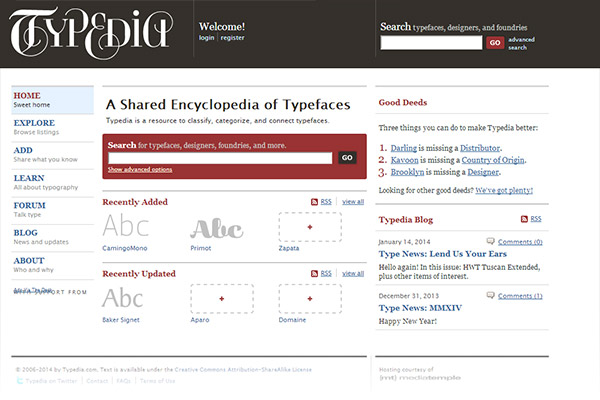 Typedia - A shared encyclopedia of typefaces