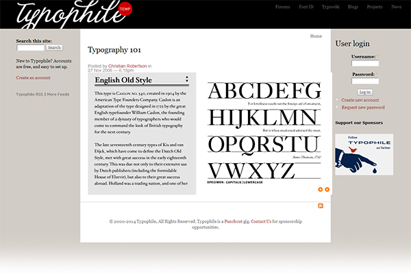 Typeography 101 - learn history and details about various fonts