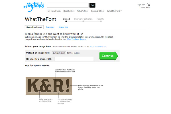 WhatTheFont - Seen a font in use and want to know what it is?