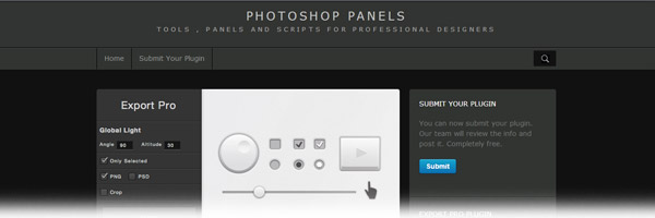 Export Pro Photoshop Panel