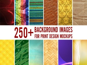 250+ Background Images & Textures for Print Design Mockups