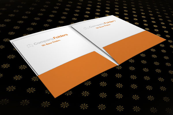 Pocket Folder Mockup with Abstract Background