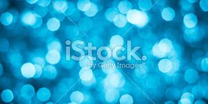 Blue Christmas Lights Background