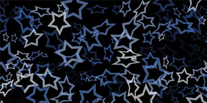 Blue Overlapping Stars Background