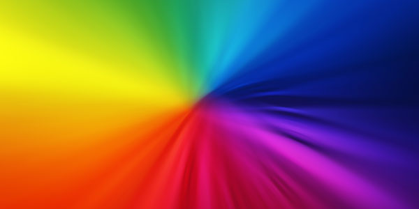 Blurry Rainbow Colors Background