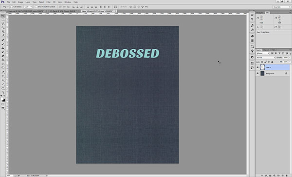Creating a Debossed Effect in Photoshop - Step 2