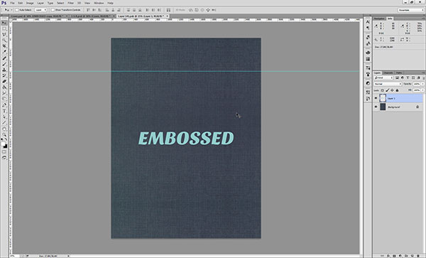 Creating an Embossed Effect in Photoshop - Step 1