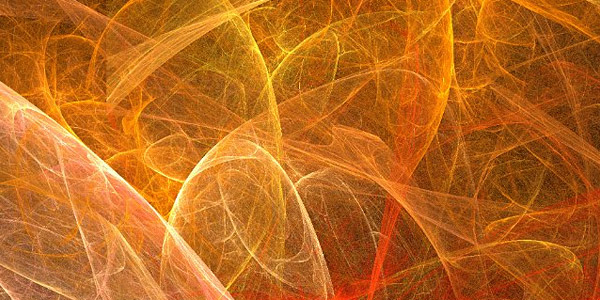 Fractal Orange Tangle Background