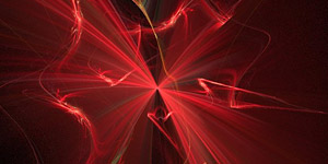Fractal Red Bow Background