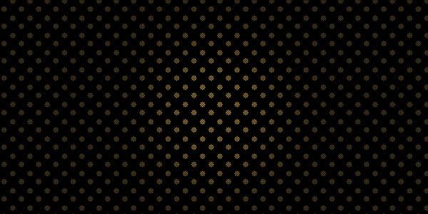 Gold Petals on Black Background