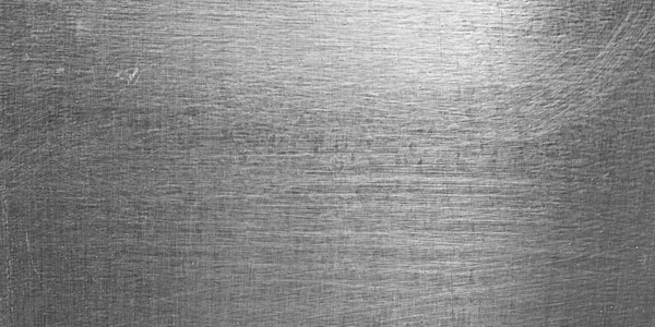 High Contrast Brushed & Scratched Metal Sheet Background