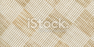 High Resolution White Linen Checked Fabric Background