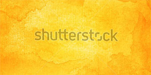 Orange Abstract Watercolor Background