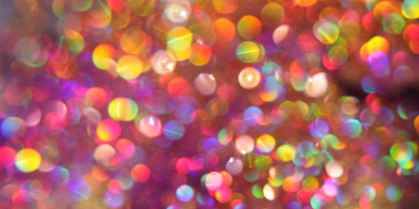 Rainbow Fiesta Bokeh Background