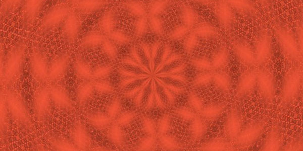 Rotational Symmetry Orange Background
