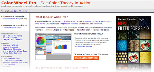 44 Color Scheme Tools for Picking the Perfect Print Palette – Sample Color Wheel Chart