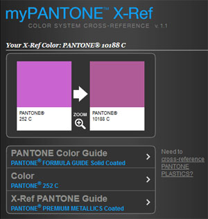 Pantone X-Ref (Cross-Reference)