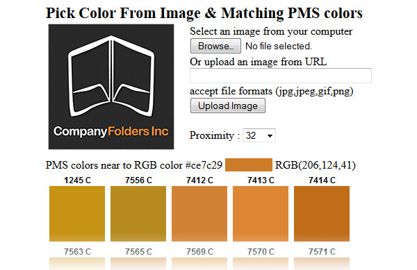 Pick Color From Image & Matching PMS Colors