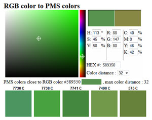 RGB/CMYK to PMS Colors