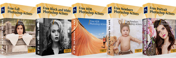 Free Photoshop Actions by FixThePhoto