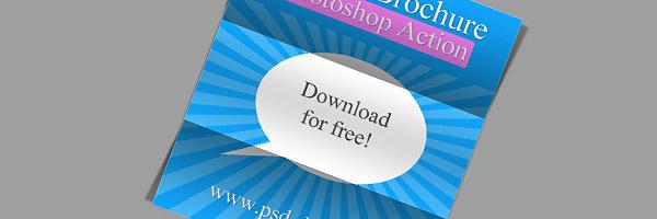 Folded Brochure Photoshop Action