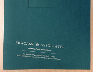 Misprinted Fracassi & Associates Folder