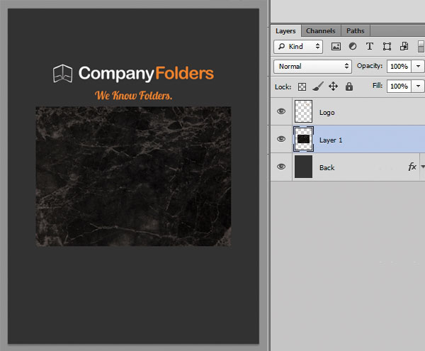 Changing Folder Stock - Step 4