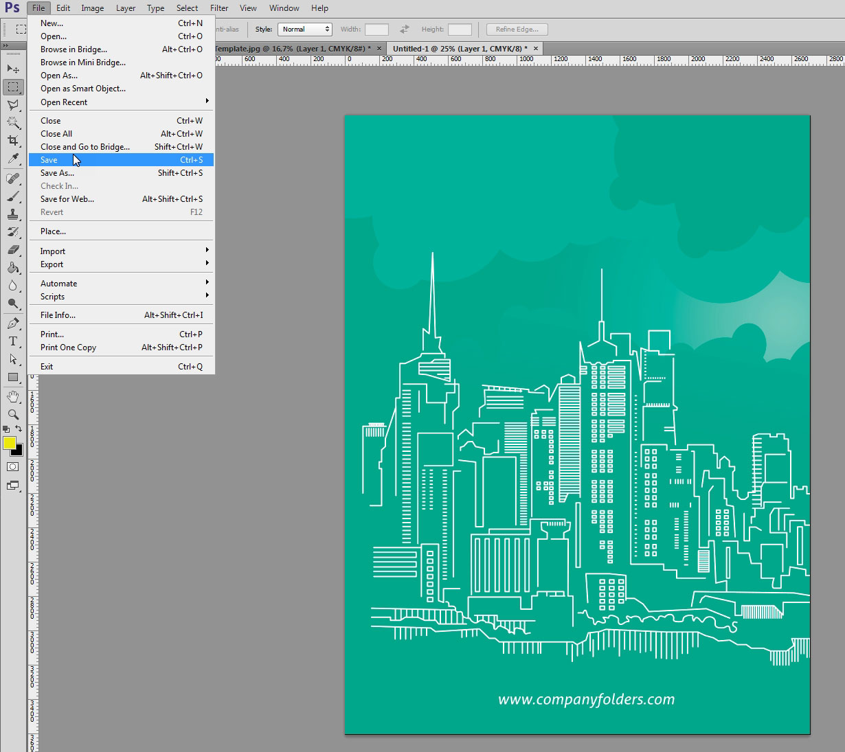 Creating Mockup-Ready Images from an Illustrator Template - Step 7