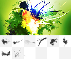 Melancholy: Abstract Explosion & Light Streak Brushes