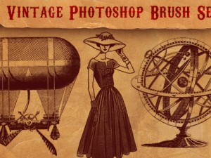 101 Fabulously Retro Vintage Photoshop Brush Sets