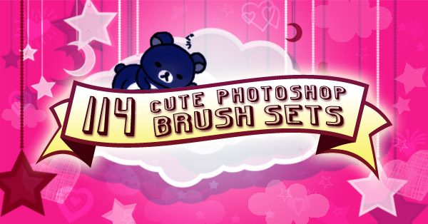 114 Hypnotically Cute Photoshop Brush Sets