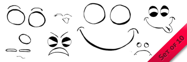 Cartoon Emotion Brushes