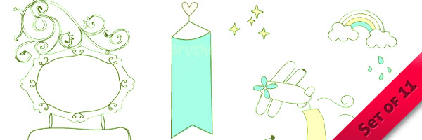 Cute Doodle Banners