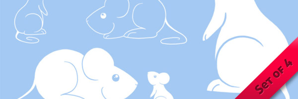 Cute Mice Photoshop Brushes