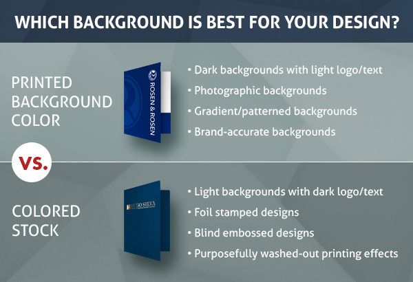 Printed Background Color vs Colored Stock: Which Background is Best For Your Design?