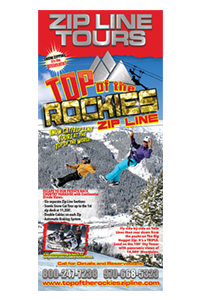 2014 Top of the Rockies Zip Line Rack Card