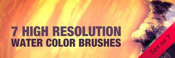7 Watercolor Brushes